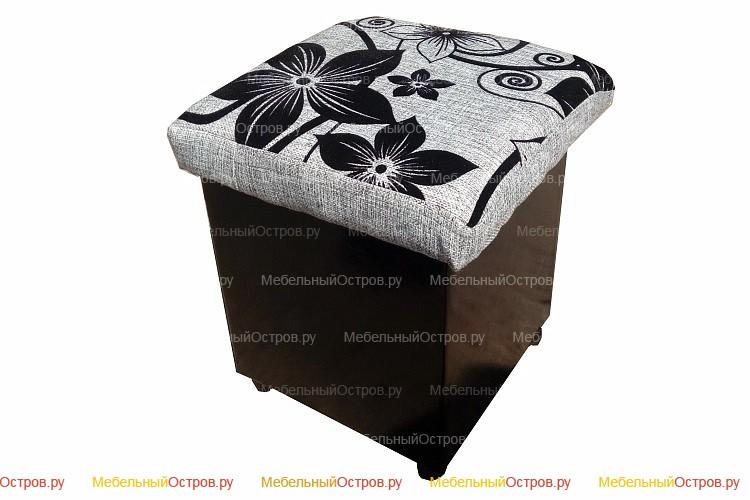 Пуфик без трансформации Кубик (Цветы)