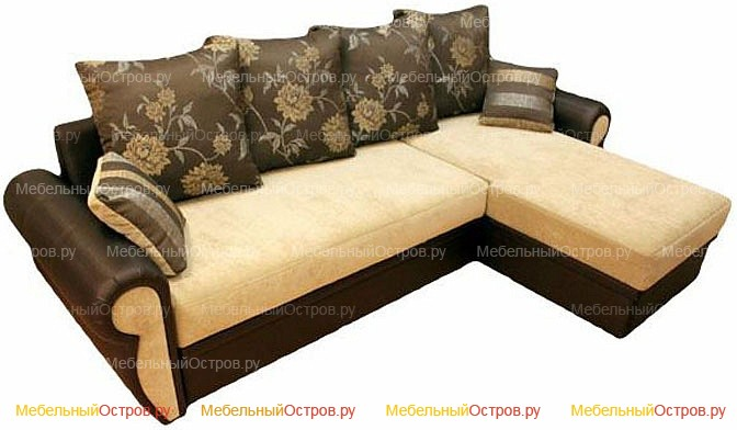 Угловой диван еврокнижка Лейла