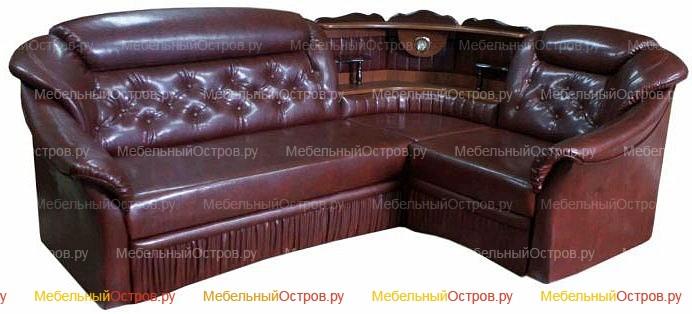 Угловой диван дельфин Мальбек (мод 01)